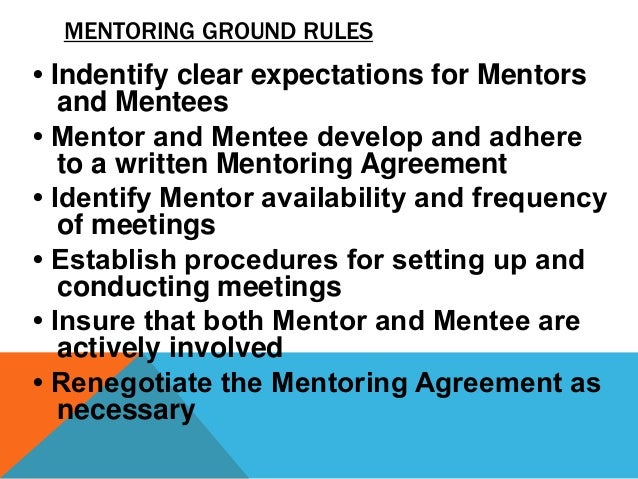 mentee and mentor relationship expectations