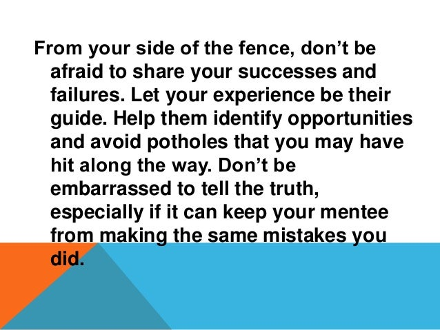 PURPOSEOFTHEGROUNDRULES These ground rules were developed in order to ƒassist mentors to discuss and establish a framework...