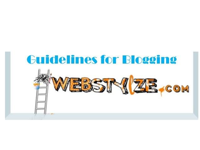 Guidelines for Blogging