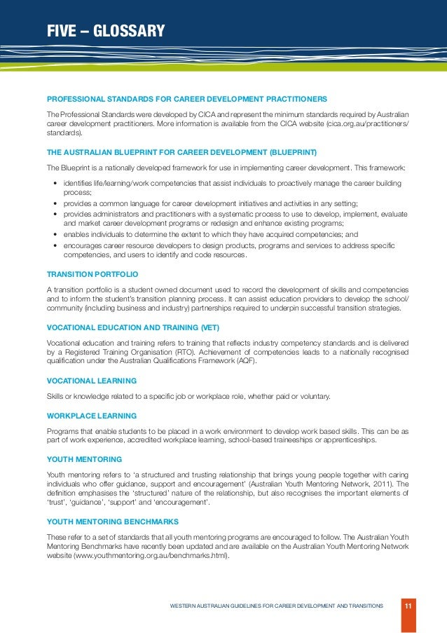 Wa guidelines for career development and transitions australian guidelines for career development and transitions 11 malvernweather Choice Image