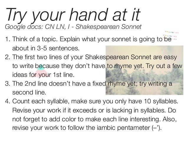 five similarities of shakespeare sonnets essay Free essays from bartleby | explication of a sonnet sonnet 144 in explication of   compare sonnet 130 by shakespeare and the glasgow sonnet by essays.