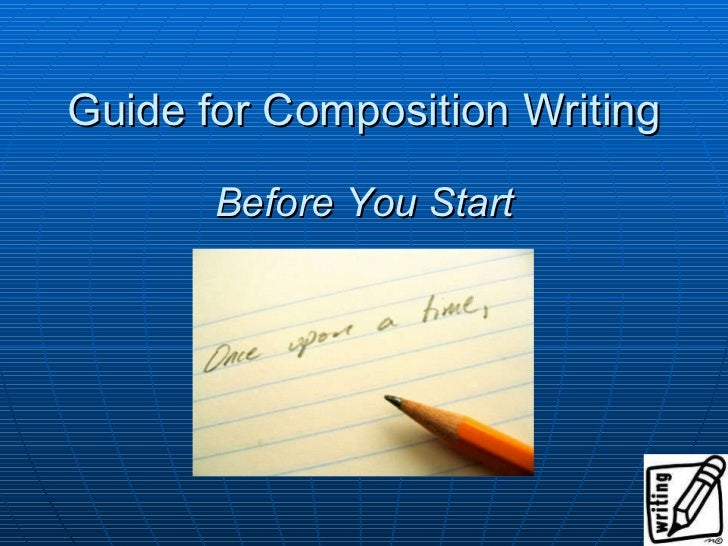 Guidelines for composition writing