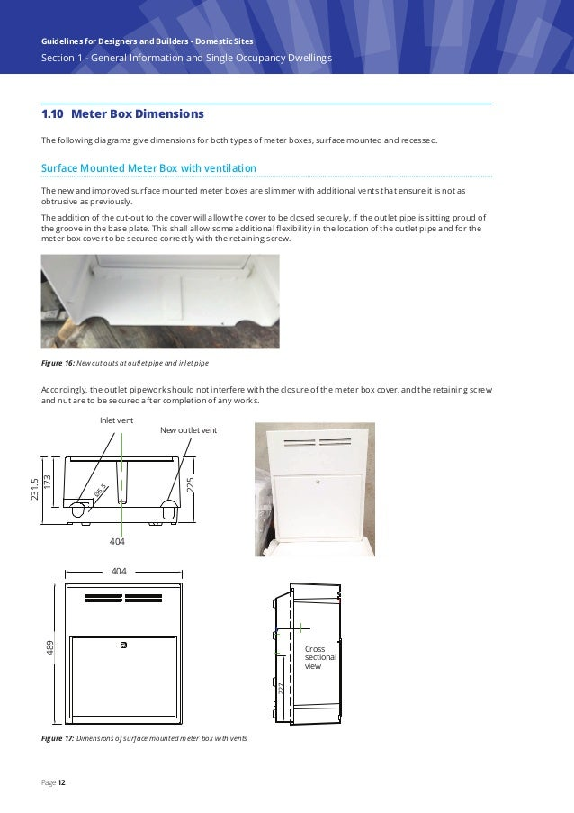 Gas Installation Guidelines For Designers And Builders Domestic Sites on Electric Meter Box Installation