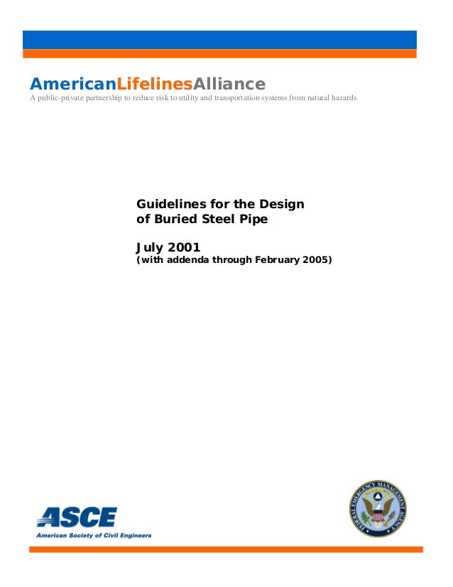 Guidelines for design of buried steel pipe