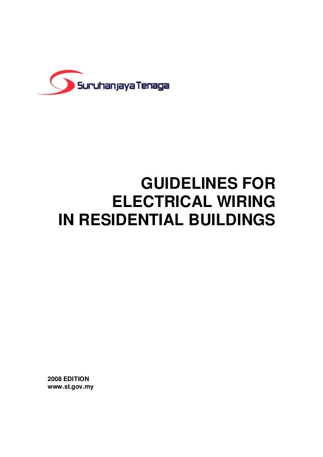 guidelines for electrical wiring in residential buildings, house wiring