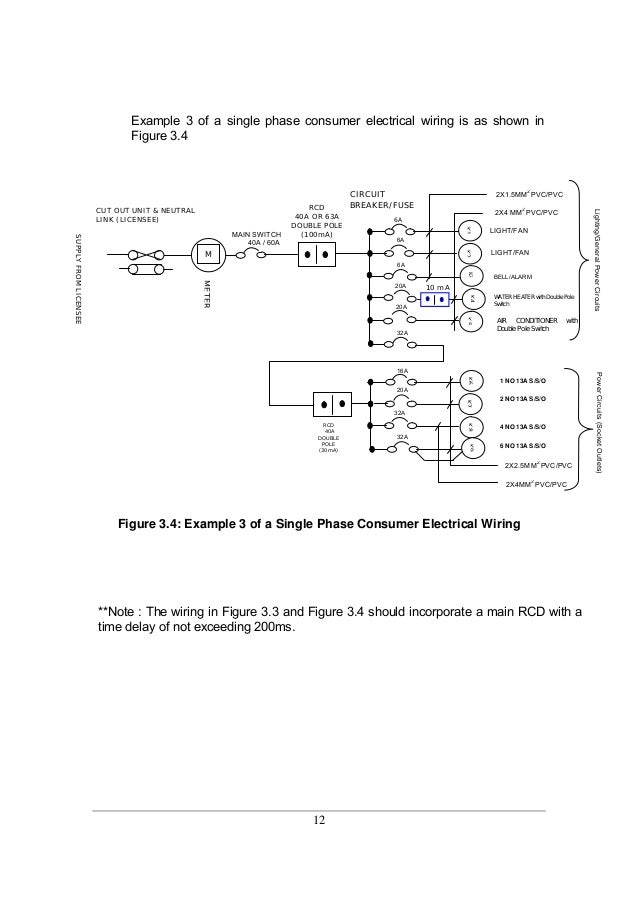 13  12 example 3 of a single phase consumer electrical wiring