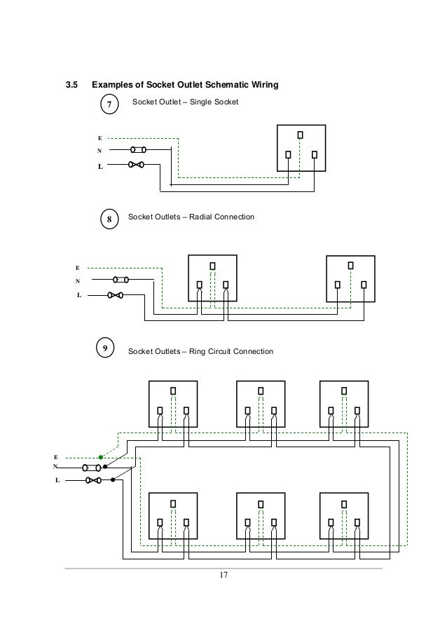Socket Outlet Wiring Diagram on 230v plug wiring