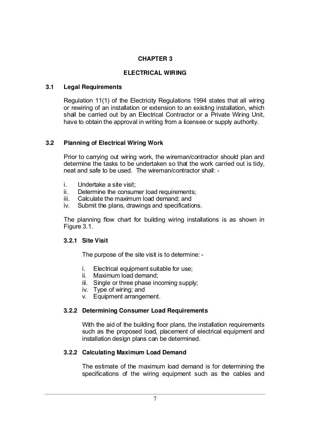 Guidelines for electrical wiring in residential buildings 8 7 chapter 3 electrical wiring 31 legal requirements regulation greentooth Image collections