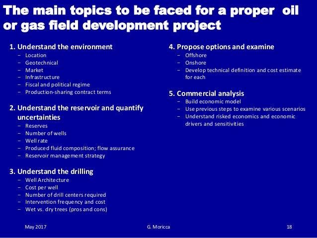 Guidelines for field development plan