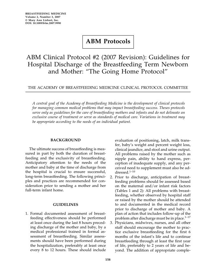 BREASTFEEDING MEDICINE Volume 2, Number 3, 2007 © Mary Ann Liebert, Inc. DOI: 10.1089/bfm.2007.9990                       ...