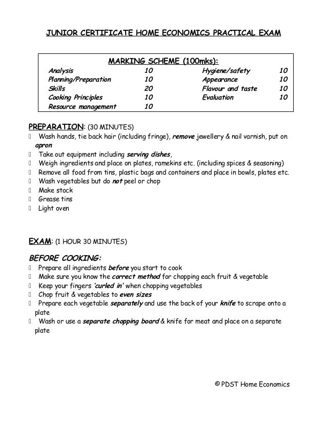 Junior Cert Home Economics Craft Project Folder Headings