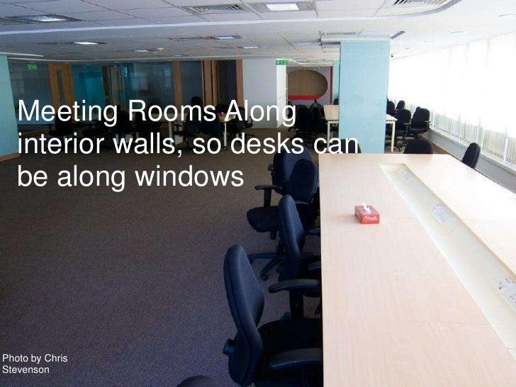 15 Meeting Rooms Along Interior