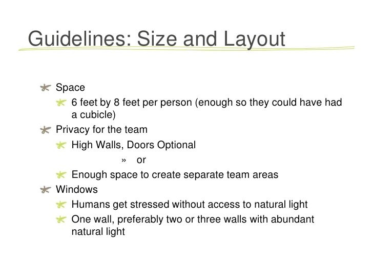 ... 5. Guidelines: Size ...
