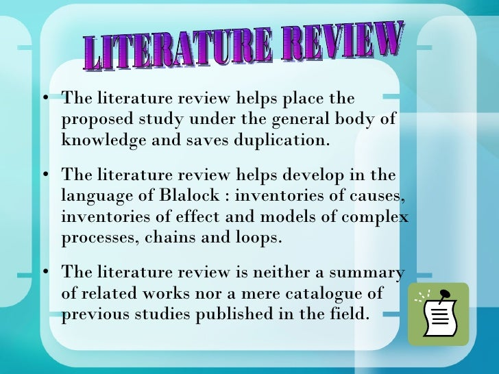 effect of literature review on research proposal Home / research & resources / literature review literature review  the aims of this preliminary review of the literature are to:  the outcomes associated with this approach is quite limited however, much more is known about the deleterious effects of bullying on both victims as well as bystanders for victims of bullying, fear can become.
