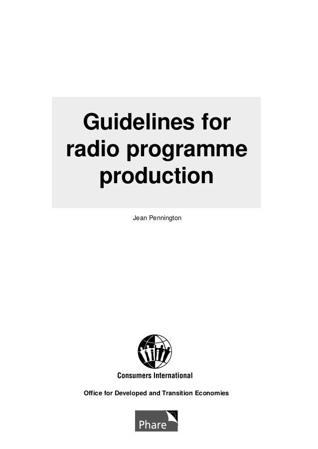 Guidelines for radio programme production