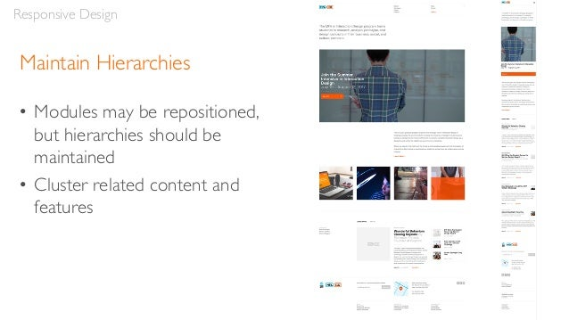 """Break Points • Responsive designs adjust at different """"break points"""" for various resolutions • These correspond to the dim..."""