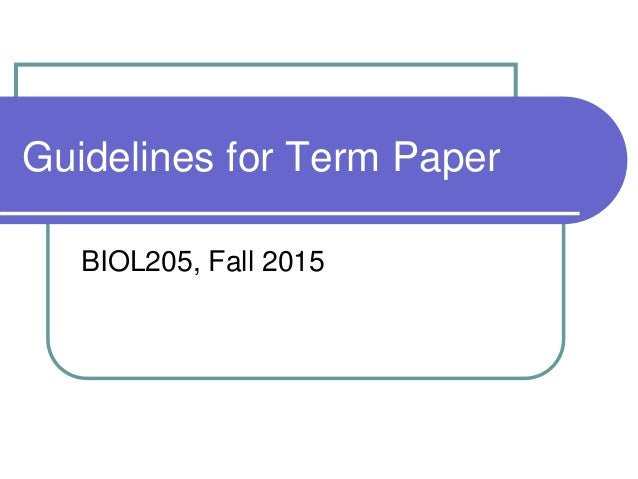 Term paper service guidelines