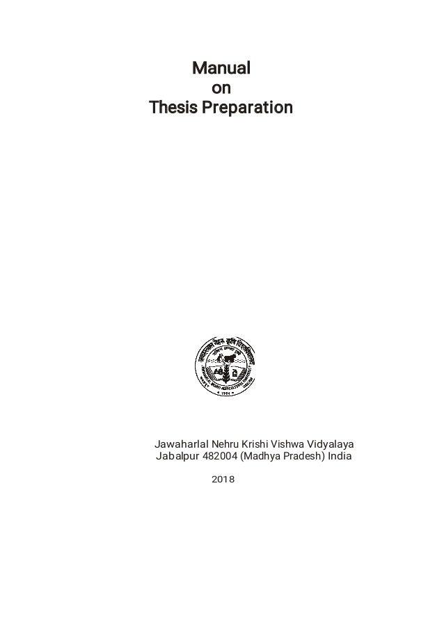 jnkvv thesis manual