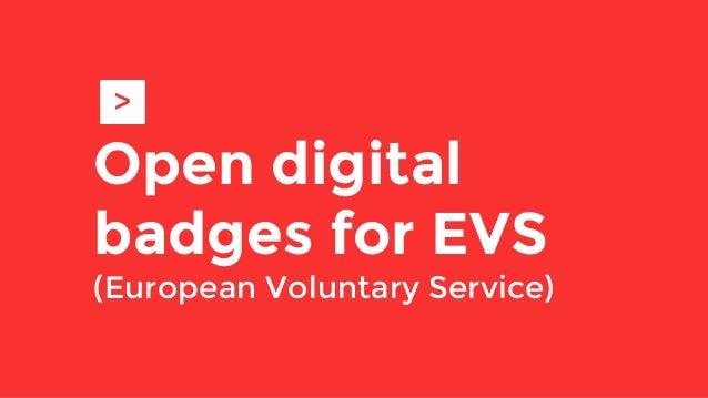 Open digital badges for EVS (European Voluntary Service) >
