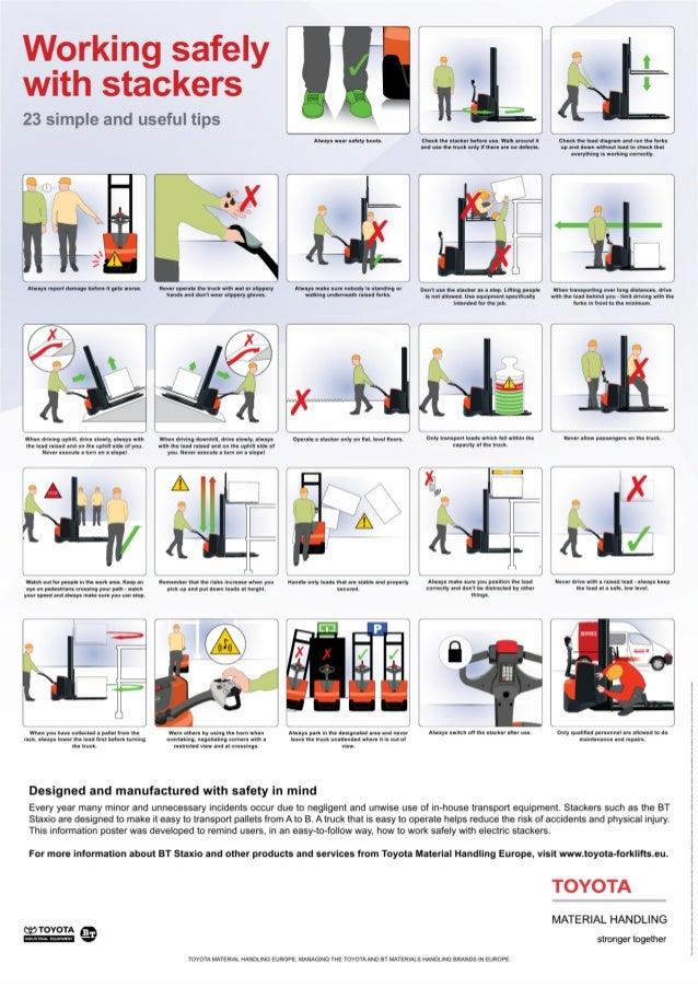work instruction forklift operation