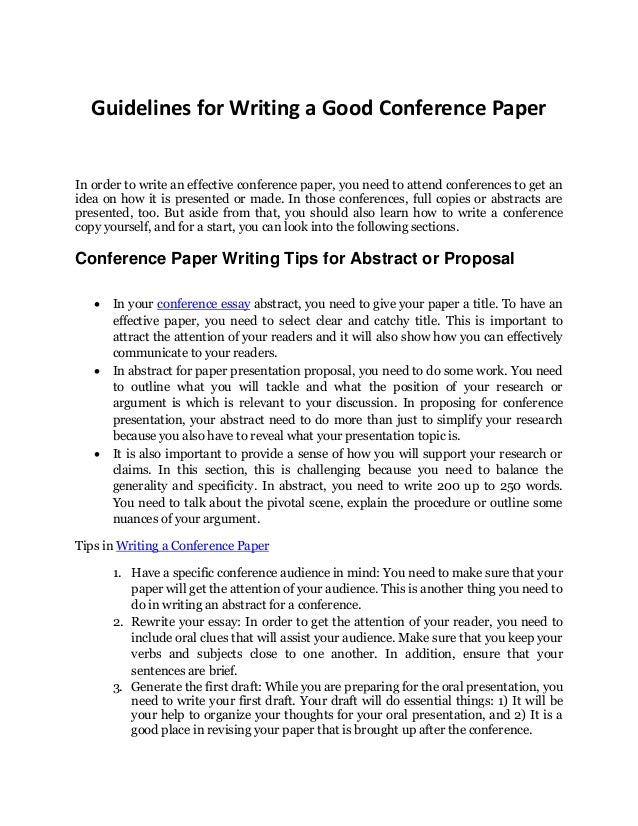 how to write an abstract for a presentation example