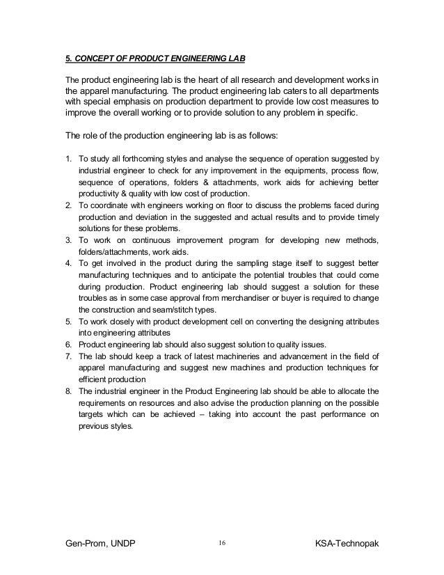 Guidelines industrial engineering