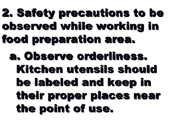 Guidelines in the cooking laboratory for printing