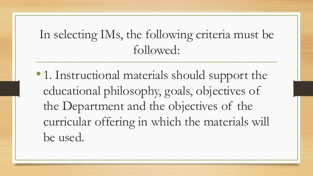 Guidelines in Using Instructional Materials Slide 3