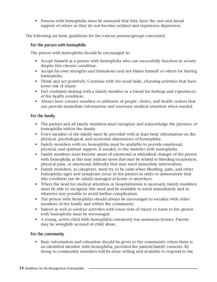 Guidelines mng hemophilia