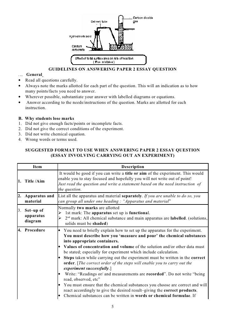 guidelines on answering paper and paper questions guidelines on answering paper 2 essay