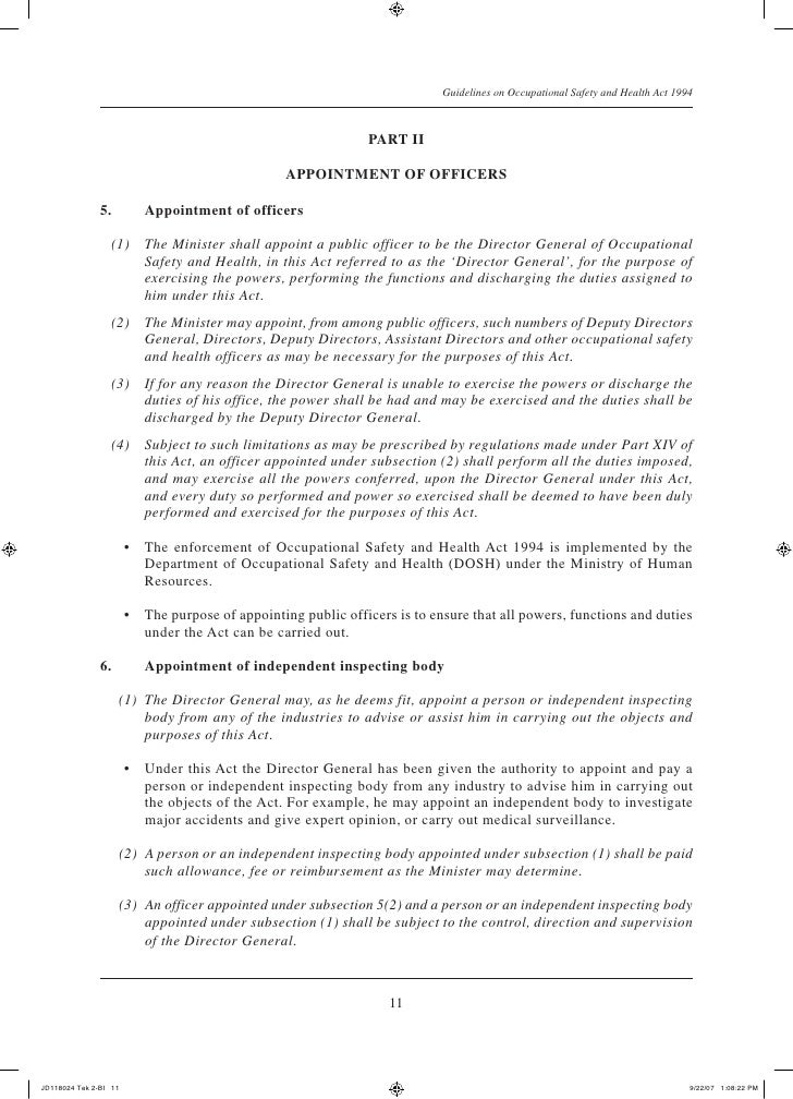 Health And Safety Officer Appointment Letter Sample