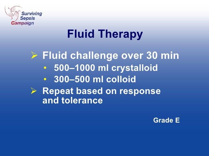 Fluid Therapy <ul><li>Fluid challenge over 30 min </li></ul><ul><ul><li>500–1000 ml crystalloid </li></ul></ul><ul><ul><li...