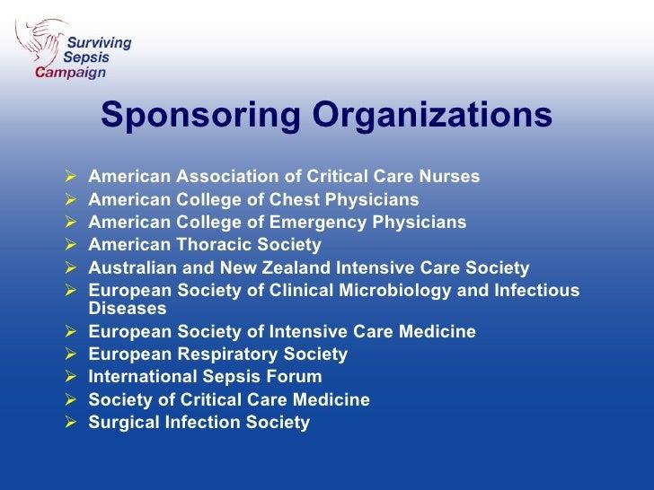 Sponsoring Organizations <ul><li>American Association of Critical Care Nurses </li></ul><ul><li>American College of Chest ...
