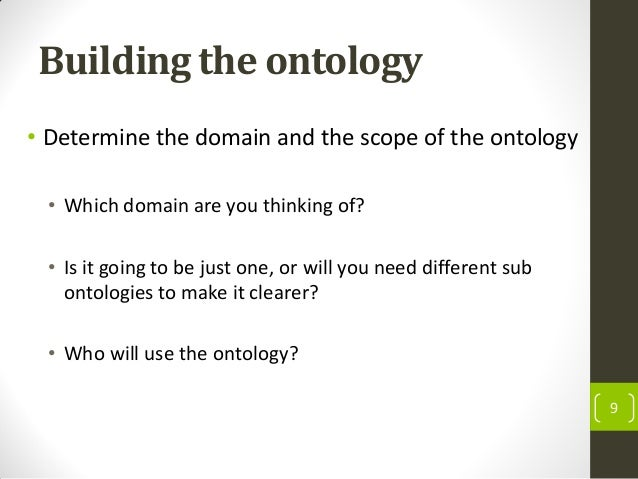 how to create an ontology