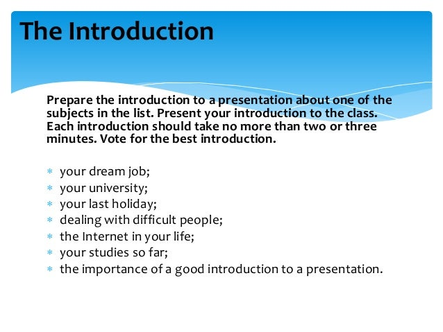 Guidelines to effective presentation