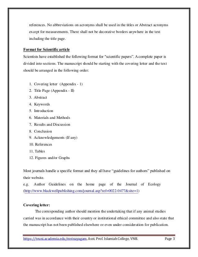Guidelines to scientific paper writing – 3 Line Writing Paper