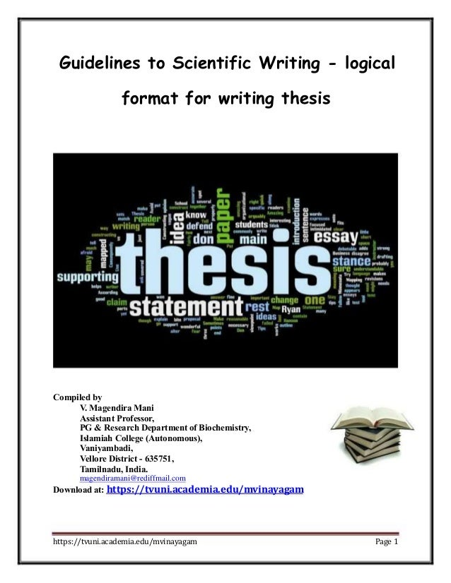 ntruhs thesis guidelines