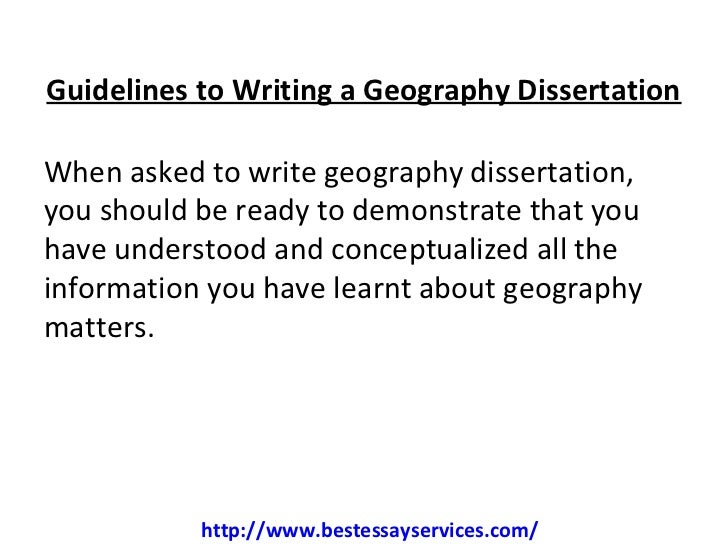 Dissertation economic geography
