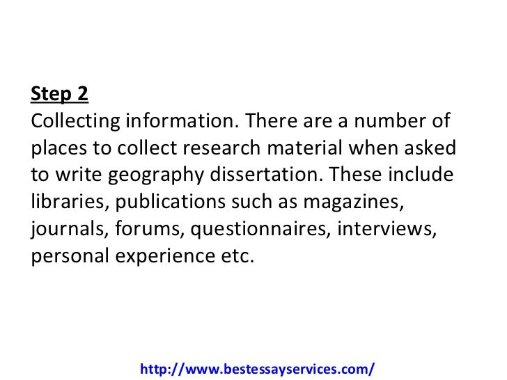 Geography Dissertation Writing Aid in Impressive Structure/Format