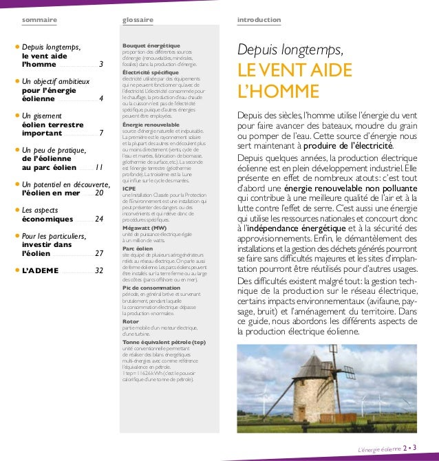 Guide l'énergie éolienne - Ademe Slide 2