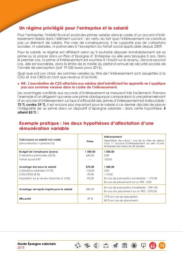 Guide du medef epargne salariale - Plafond de deduction au titre de l epargne retraite ...