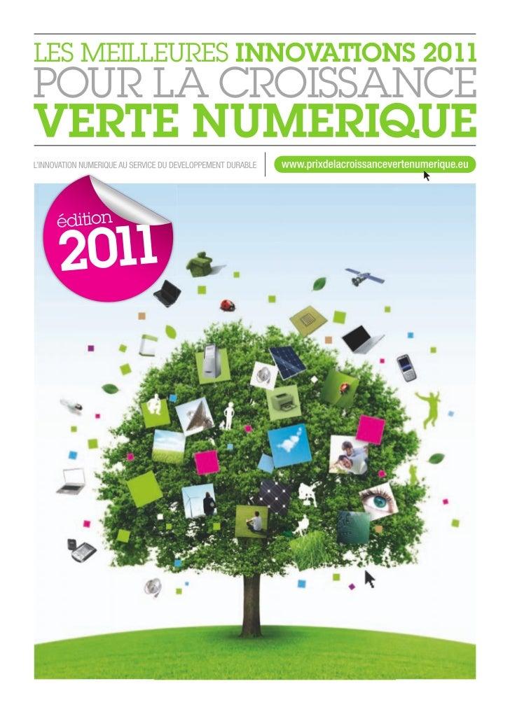 CE PRIX EST CO-ORGANISÉ PAR :                                LES MEILLEURES INNOVATIONS 2011                              ...