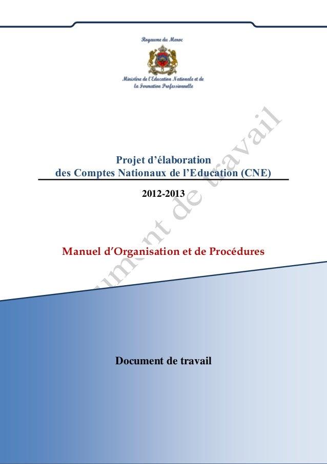 Ministère de l'Education Nationale et de la Formation Professionnelle Siège Central du Ministère BabRouah- Rabat Tél : 053...