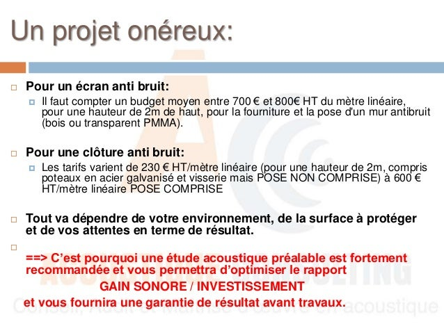 Guide mur anti bruit for Mur anti bruit exterieur