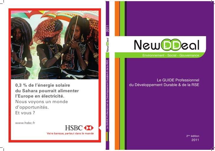 Environnement - Social - Gouvernance             Le GUIDE Professionneldu Développement Durable & de la RSE               ...