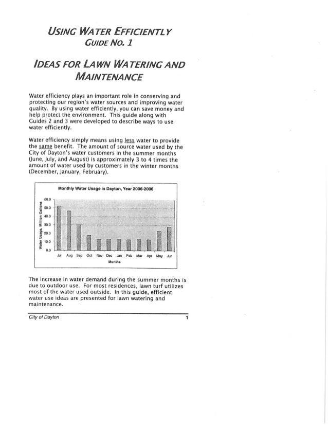 Ideas for Lawn Watering and Maintenance - Dayton, Washington