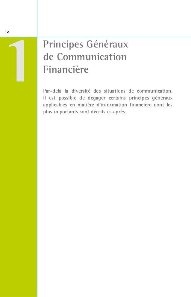 13 1z Notions d'information permanente, d'information périodique et d'information réglementée14  Information périodique...