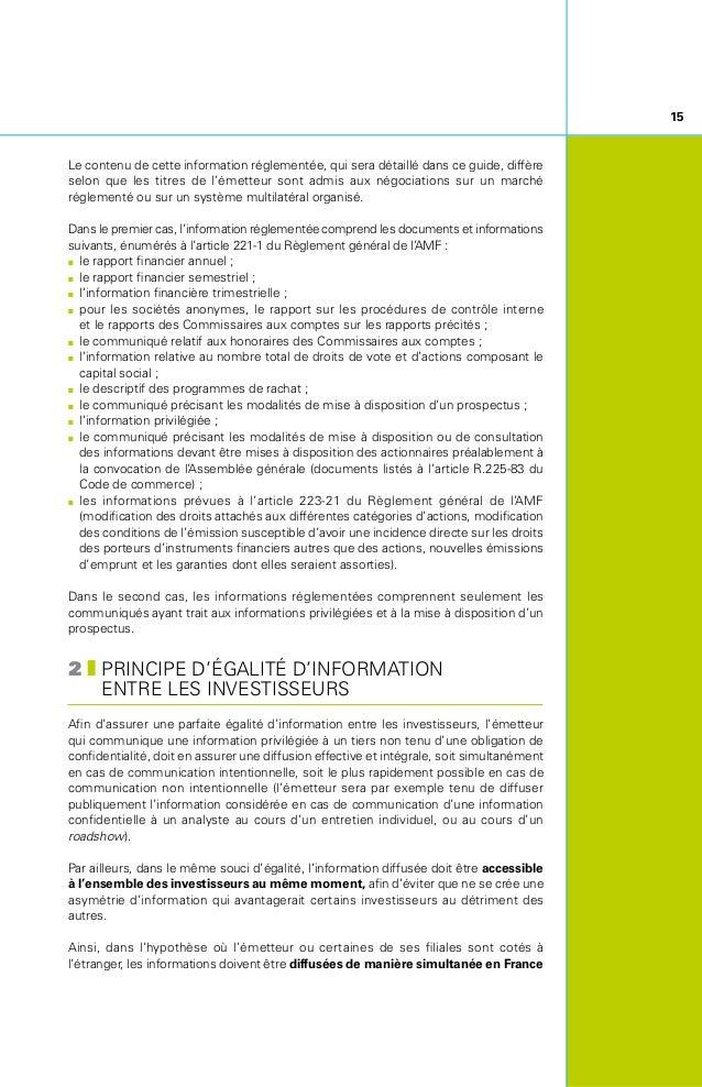 16 et à l'étranger. Il convient de noter que ce principe doit s'appliquer tant pour la diffusion d'une information par la ...