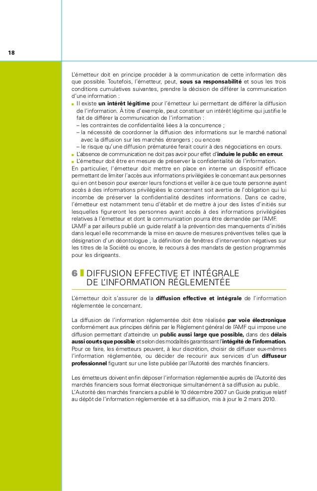 7zARCHIVAGE ET TRANSPARENCE DE L'INFORMATION RÉGLEMENTÉE Les émetteurs sont tenus de mettre en ligne sur leur site Inter...