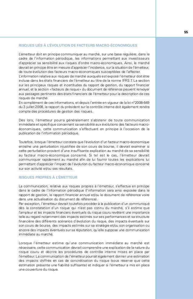 Cadre et Pratiques de Communication Financière (2013)